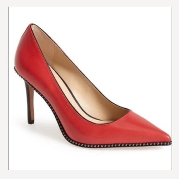bb664f9851fa Coach Shoes - Coach Red Bead-chain Pump